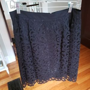 Lands' End black lace skirt